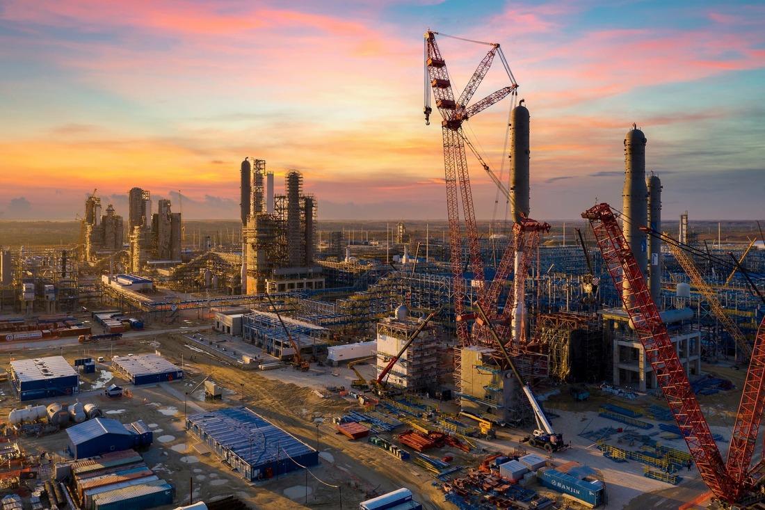 Строительная площадка Амурского газоперерабатывающего завода